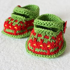 Ravelry: Crazy Color Baby Booties pattern by Julia Noskova