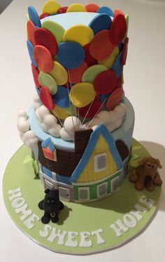 UP! Housewarming cake and foster parents for the RSPCA