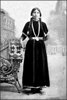 Nez Perce woman named Elizabeth Penny, Camas Prairie, Idaho, ca. 1899.