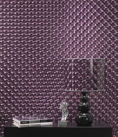 Kaleidoscope holographic wallpaper. I would luv this in a bathroom!