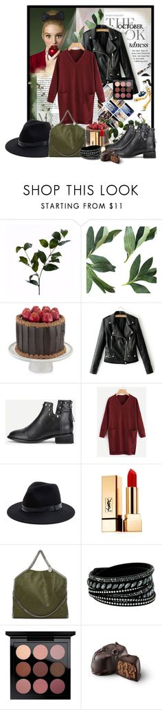 """october look"" by gorica91 ❤ liked on Polyvore featuring Wyld Home, Sole Society, Yves Saint Laurent, STELLA McCARTNEY, Swarovski, MAC Cosmetics, Black Swan, YSL, mac and swarovski"