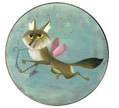 coyote cherub #1 Brigette Barrager Shape Art, Art Thou, Freelance Illustrator, Animal Totems, Eclectic Style, Children's Book Illustration, Cool Art, Awesome Art, Childrens Books