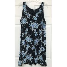 Flower print skater dress Never worn!! Torrid size 3. Floaty and comfy, not too heavy but has a black lining. torrid Dresses Midi