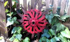 Rusty Metal Garden Art Industrial Chic Decor by grasshoppercafe, $39.50