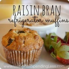 Raisin Bran Refrigerator Muffins--These are seriously the best bran muffins I have ever had! Whips up a huge batch of batter that can be stored in the refrigerator for up to 3 weeks to bake as needed on busy mornings!