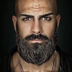 Beard And Mustache Styles, Beard Styles For Men, Beard No Mustache, Bald Men With Beards, Bald With Beard, Full Beard, Beard Game, Man Beard, Beard Tips
