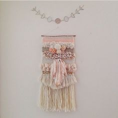 Weaving woven wall hanging by Maryanne Moodie Www.maryannemoodi...