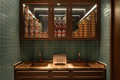 Visitors to a Thai grocery store in one a Hong Kong shopping centres will get more than they bargained for at speakeasy restaurant Mak Mak. Restaurant Bad, Speakeasy Restaurant, Restaurant Bathroom, Restaurant Interior Design, Cafe Interior, Bistro Interior, Design Blog, Cafe Design, Thai Decor