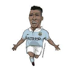 Manchester City No.72 Kelechi Iheanacho Fan Art