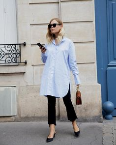 """1,057 Likes, 11 Comments - By Malene Birger (@bymalenebirger) on Instagram: """"MOST WANTED: A classic blue shirt is always a good idea. Don't you agree? #bymalenebirger #bmbfw17…"""""""