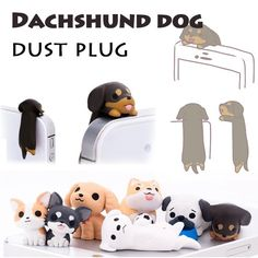 Dachshund Lovers 3.5mm Cellphone Dust Plug