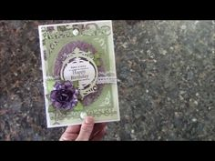 TUTORIAL -  ANY OCCASION CARD DESIGNS BY SHELLIE TRANQUIL GARDENS PAPER ...