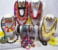 FASHION JEWELRY LOT - NECKLACES, BRACELETS AND EARRINGS #Jewelry #Deal #Fashion