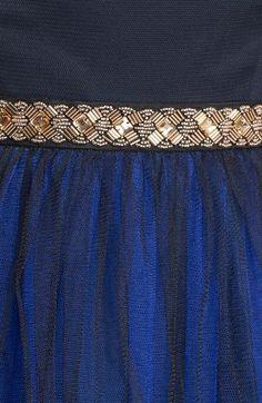a. drea Two Tone Embellished Waist Dress (Juniors)
