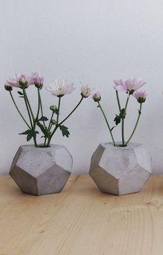 Concrete Geometric Minimalist Vase