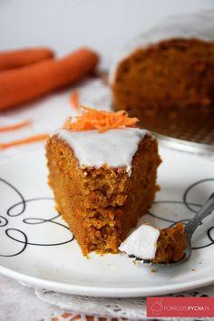 Polish Desserts, Polish Recipes, Sweet Recipes, Cake Recipes, Good Food, Yummy Food, Carrot Cake, Food Design, Healthy Desserts