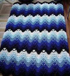 Mountain Crochet Blanket Afghan Free Pattern