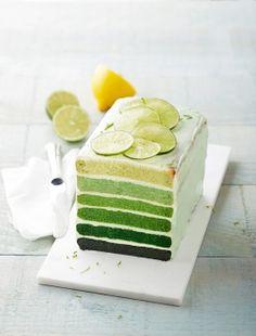 Rainbow cake citron vert et amande
