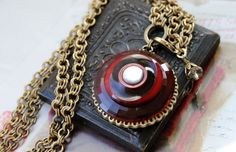 Faceted Chianti Red Glass Necklace Long to Short Deep by veryDonna