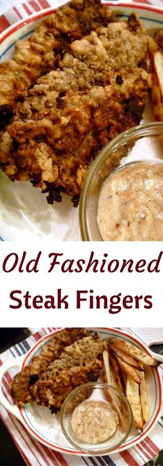 Night: Old Fashioned Steak Fingers Nothing better than comfort food and that spells Old Fashioned Steak Fingers in our house! Slice of SouthernNothing better than comfort food and that spells Old Fashioned Steak Fingers in our house! Slice of Southern Diner Recipes, Steak Recipes, Cooking Recipes, Cooking Blogs, Cooking Ribs, Sandwich Recipes, Chicken Recipes, Beef Dishes, Food Dishes