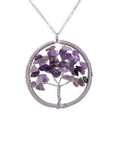 Amethyst Tree Necklace -  Check us out on www.boohoden.space