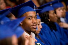 Students from South Brooklyn Community High School on graduation day, in New York City