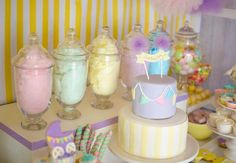 baby shower Party Favors | Fairyfloss Cotton Candy Baby Shower Party Ideas Supplies Idea Girl