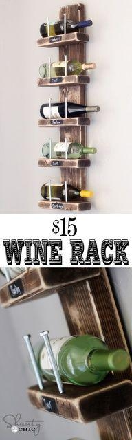 Porta Vinhos com sobra de madeira