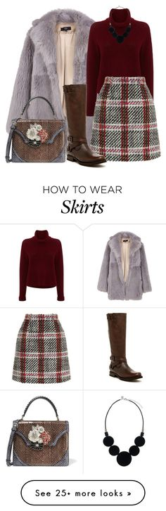 """Без названия #506"" by nastiabigatty on Polyvore featuring TIBI, 360 Sweater, Carven, Alexander McQueen and Frye"