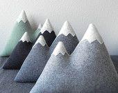 the Peaks - modern wool mountain pillow