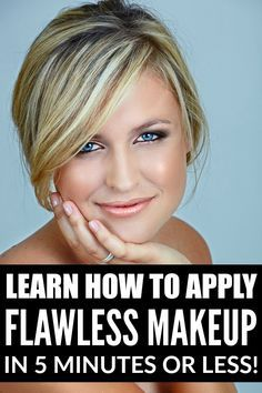 Whether you're still in college, climbing the corporate ladder, enjoying life as a SAHM, or just plain lazy (like me!), these tutorials will teach you how to apply flawless makeup in 5 minutes or less, leaving you time to do more important things. Like repin this on Pinterest!
