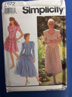 New Vintage FF Pattern Simplicity  7672 Dress Size 6-10 Misses  Women  | eBay