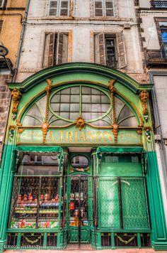 Hold shop in Clermont Ferrand 🍃❄️ Parisian Architecture, Amazing Architecture, Limousin, Sitges, Rafting, Shop Facade, Clermont Ferrand, Visit France, Building Art