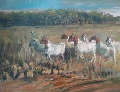 Online art gallery with original and unique artworks by Eric Eatwell Country Scenes, Eating Well, Online Art Gallery, Goats, Artwork, Painting, Work Of Art, Painting Art, Goat