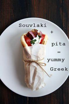 Pita, souvlaki, tzatziki: in other words, a classic Greek yummy!