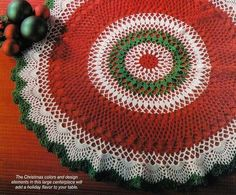 Image detail for -X340 Crochet PATTERN ONLY Christmas Centerpiece Doily Table Scarf