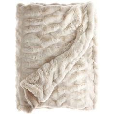 Faux Fur Throw ❤ liked on Polyvore featuring home, bed & bath, bedding, blankets, fillers, accessories, other, fake fur blanket, cream throw and ivory throw blanket