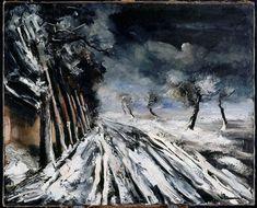 vlaminck paintings | Snowstorm by Maurice De Vlaminck (1876-1958, France)