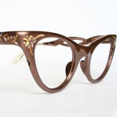 Bronze Vintage 1950s Cat Eye Glasses MINT...