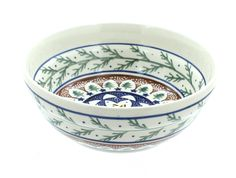 Evergreen Cereal/Soup Bowl - Blue Rose Polish Pottery
