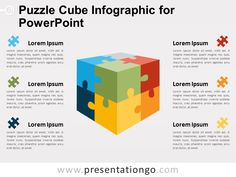 3 step hexagons puzzle diagram for powerpoint pinterest diagram free puzzle cube infographic for powerpoint ccuart Image collections