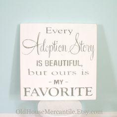 Perfect Adoption Story Wall Art Decor - Baby Shower Gift - Gotcha Day Gift - Adoption Auction Idea
