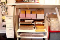 Organized Shipping Supplies - The Shipping Center in My Studio by Nicole Balch, Office Organization At Work, Office Setup, Home Office Organization, Home Office Decor, Business Organization, Office Inspo, Organizing Ideas, Office Ideas, Business Storage