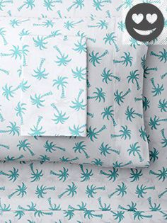 #manythings Bring a bit of the beach home to #your bedroom #with this cheerful printed sheet set. colorful seaside prints 300-thread-count cotton fits mattresses ...