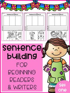 These sentence building set was made with a preschooler in mind. These are a great way to practice fine motor skill. Students get to cut the puzzles and put the puzzles together, students also get a fun way to practice their handwriting. These pages are fun to use throughout the year.These are also great for beginning readers in kindergarten to practice building sentences and sentence structures.