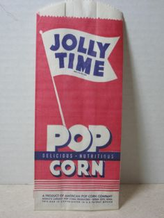 Vintage Jolly Time Pop Corn Sioux City Iowa New Old Stock | eBay