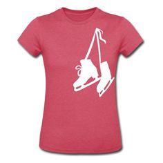 Melange raspberry Skates - Ice - Figure - Skating Women's T-shirts