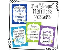 The Honey Bunch: Free Manners Posters