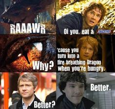 Maybe Sherlock's just needed a Snickers this whole time!