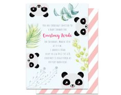 Panda Baby Shower Invitation Panda Invitation por StardustEvents